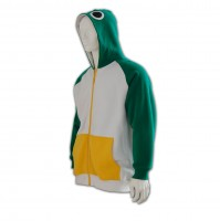 man	green zip up