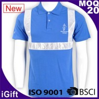 light blue reflective polo shirts