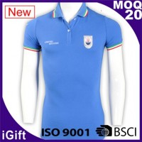 light blue cotton sports polo shirts
