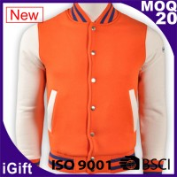 orange and white basketball jacket