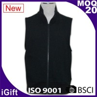 black vest zipper workwear with logo