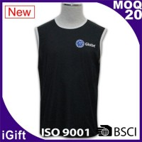 black vests t shirts with logo