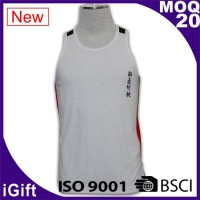 white group vest tee with logo