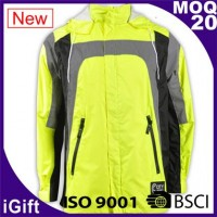 yellow-gray mountaineering reflective jacket