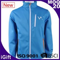 blue zipper jacket with logo
