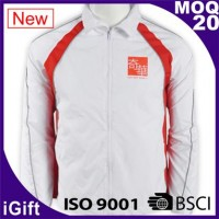 white zipper jacket with logo