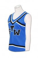 blue cheerleading top uniform for girl