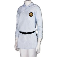 gray dress school uniform with belt