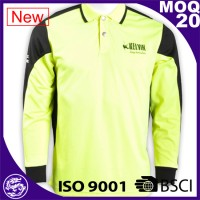BSCI/ISO9001 garment industry men chile long sleeve polo rugby jersey