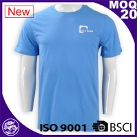 BSCI/ISo9001 2017 mens women customized screen print CVC T shirt