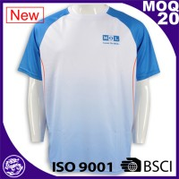 100% Polyester Dri fit promotion activity sublimation printed white t shirts
