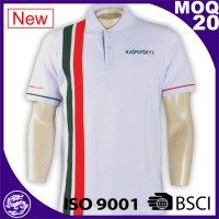 100% cotton new design men high quality striped polo tee