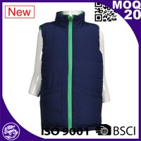 Blue women short sleeve coat for winter
