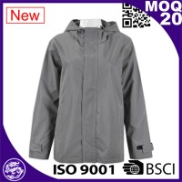 Grey Unisex waterproof softshell jacket