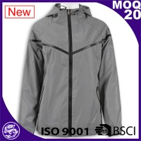 Polyester and nylon outerwear hoody jackets