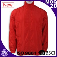 Red Nylon Waterproof Women Overcoat