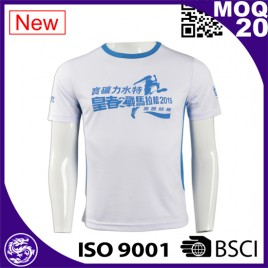 polyester spandex anti-UV running sports shirt