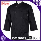 Basic Fit Chef Coat Plastic Buttons 100% Premium Cotton Twill cheap custom chef uniforms