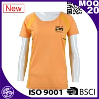 Orange Women short sleeve sport shirt