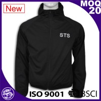 mens breathable black softshell jacket