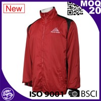 audited factories safety running red softshell jacket