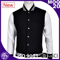 white & black blank hoodies baseball jacket men