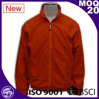 simple design red blank windbreaker jacket