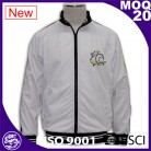 Full zipper jacket, branded embroideried logo mens white