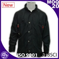 Pure Black Men Outer Wear Jacket