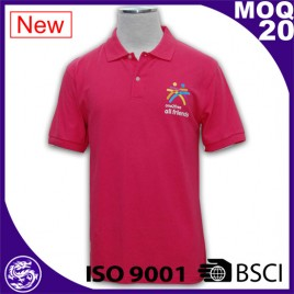 BSCI/ ISO 9001 Factory Wholesale new design color combination polo t shirt