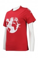 Customized Red T-Shirt Uniform Supplier