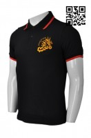 Personalized Black Short Sleeve Polo Shirt
