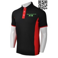 Design Mens Black Polo Top