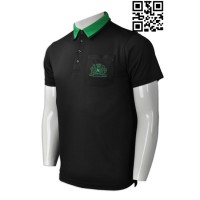 Produce Black and Green Polo Shirt