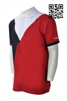 Customized Black and Red Polo Shirt