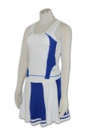 Custom-made Blue Cheerleader Costume