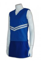 Print Blue and White Cheerleader Costume