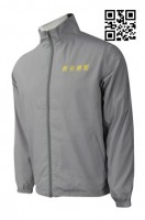 Customize Grey Mens Windbreaker