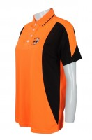 Print Orange Polo Shirt Bespoke
