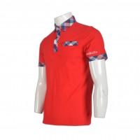 red white polo shirt