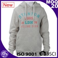 Women grey kangaroo pullover printed hoodies