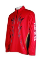 Print Red Cycling Jersey Men's