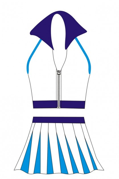 Personalized Adult Cheerleader Costume