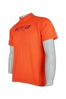 Custom Orange Cycling Jersey Men's