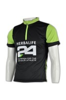 Custom-made Mens Black Cycling Jersey