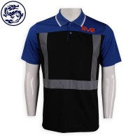 dark blue and black polo with reflective strips