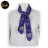 Scarf059  white words pattern purple scarf