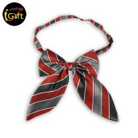 SKCF09  Red, gray and black striped tie
