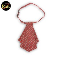 SKCF12  Dotted pattern wine red collar flower