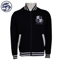 Supply zipper hit color flat baseball 褛 Australia PVBS baseball jacket supplier